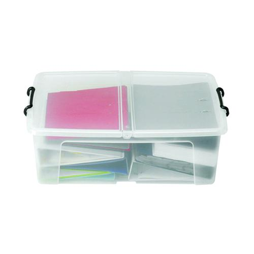 Strata 50L Smart Box with Lid Clear HW675