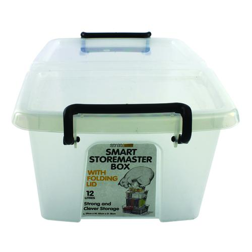 Strata Smart Box 12 Litre Clear (295 x 400 x 70mm) HW671