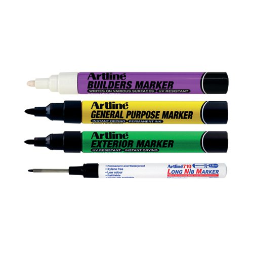 Artline EKPRW4 Builders Marker Kit (Pack of 4) EKPR BUILDERS W4