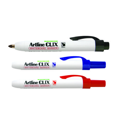 Artline Clix Retractable Whiteboard Marker Assorted (Pack of 4) EK573AW4