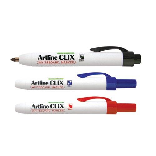 Artline Clix Whiteboard Marker Assorted (Pack of 4) EK573AW4