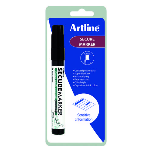 Artline Secure Redacting Marker Black EKSC4-C1