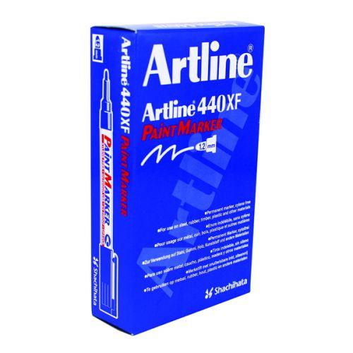 Artline 440 Fine White Bullet Tip Paint Marker (Pack of 12) A440