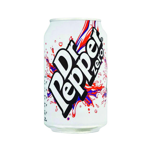 Dr Pepper Zero 330ml Cans (Pack of 24) 0402053 by Dr Pepper Snapple Group, ARN10001