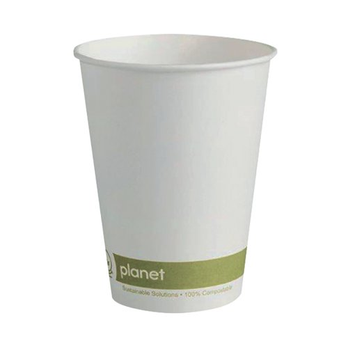 Planet 12oz Single Wall Cups (Pack of 50) HHPLASW12 AS30370