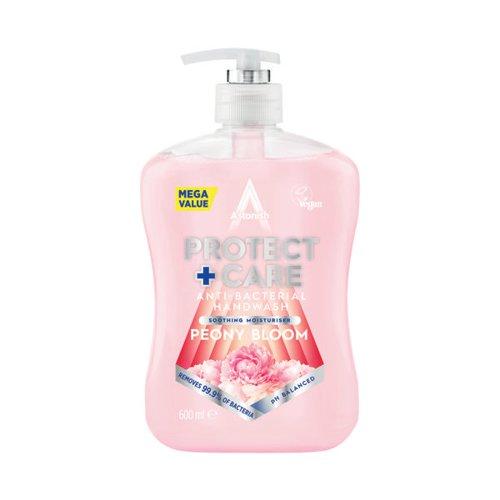 Astonish Anti Bac Handwash 650ml Peony Pink (Pack of 12) AST21246