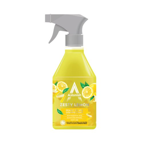 Astonish Ready to Use Disinfectant 550ml Lemon (Pack of 12) AST21255