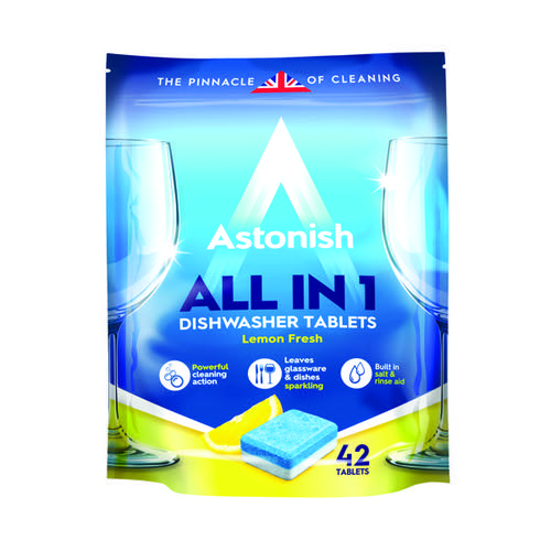 Astonish All in 1 Dishwasher Tablets Blue (Pack of 42) AST22180
