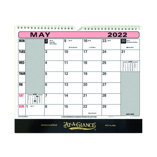 At-A-Glance Wall Calendar 2022 90M22