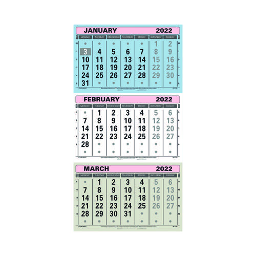 At-A-Glance 3 Monthly Calendar 2022 TML22