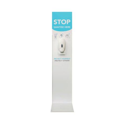 Floor Standing Hand Sanitiser Unit White (Pack of 2) 921410PK2