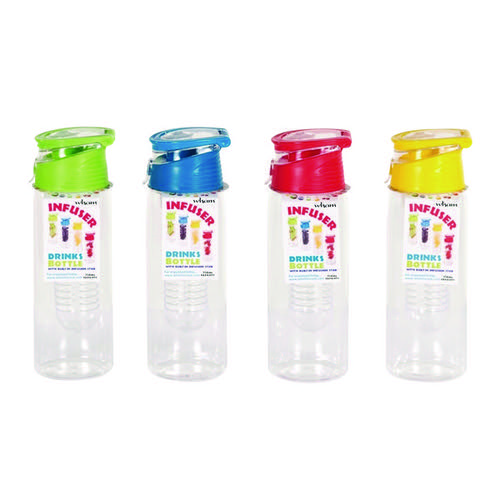 Infuser Reusable Water Bottle 750ml Assorted (Pack of 12) 20097