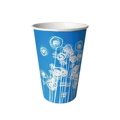 Aqua Swirl 7oz Paper Water Cup (Pack of 100)