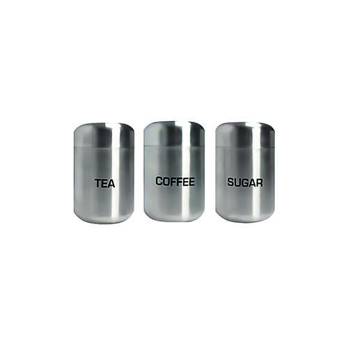 Kitchen Canisters Stainless Steel (Pack of 3) DLCTCS