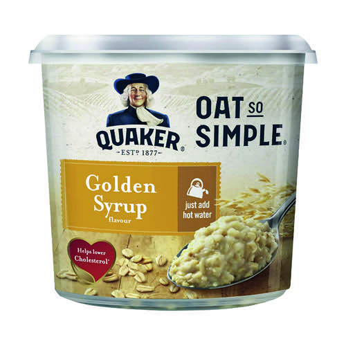 Oat So Simple Golden Syrup Porridge Pot 57g (Pack of 8) 121256