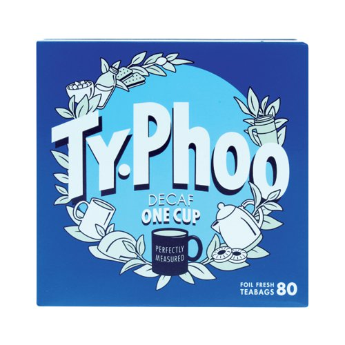 Typhoo Decaf Teabags (Pack of 80) A08107