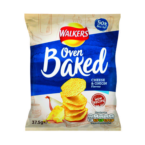 Walkers Baked Cheese and Onion 37.5g (Pack of 32) 101011