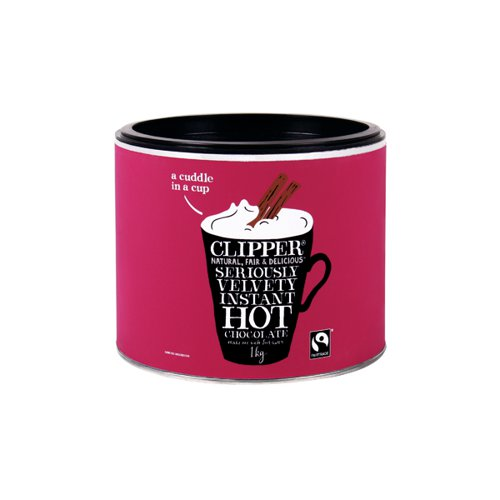 Clipper Fairtrade Organic Hot Chocolate 1kg A06793