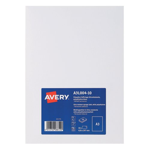 Avery Permanent Display Labels A3 (Pack of 10) A3L004-10