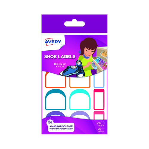 Avery Adhesive Shoe Labels (Pack of 16) CHAUS12.UK