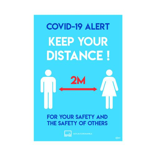 Avery Social Distancing Label 420x297mm A3 (Pack of 2) COVSDA3
