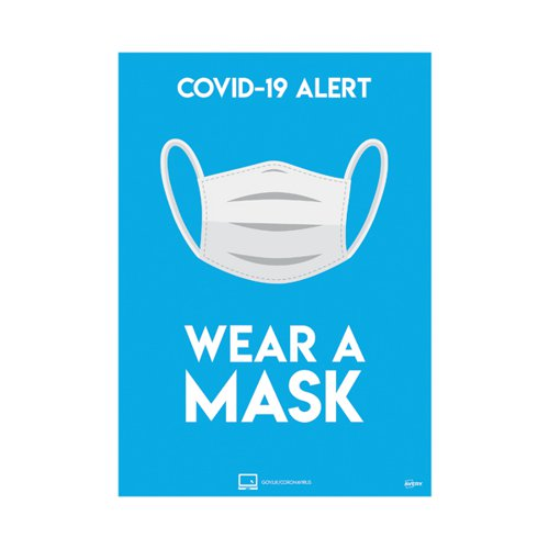 Avery Wear A Mask Poster A4 (Pack of 2) COVWMA4