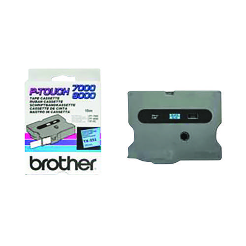 Brother P-Touch 24mm Black On Blue Labelling Tape TX551