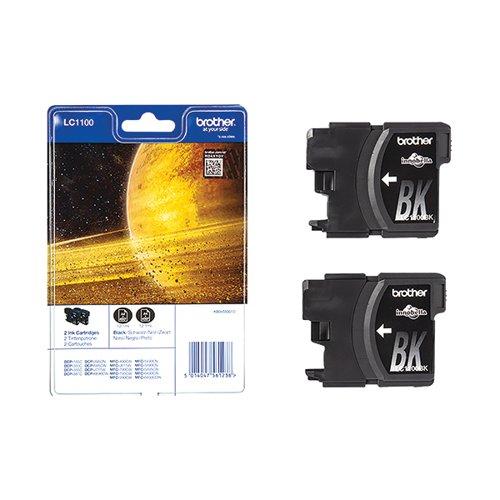 Brother LC1100HY-BK Inkjet Cartridge (Pack of 2) Black LC1100HYBKBP2