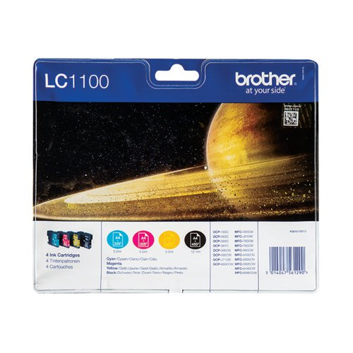 Brother LC1100HY 4 Colour Ink Cartridge Multipack LC1100HYVALBP