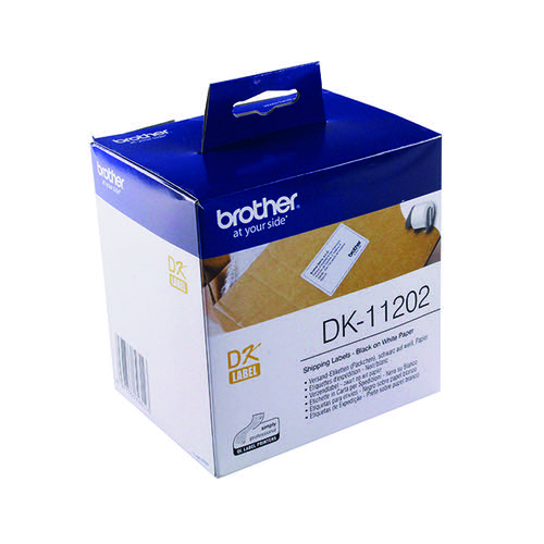 Brother Black on White Paper Shipping Labels (Pack of 300) DK11202