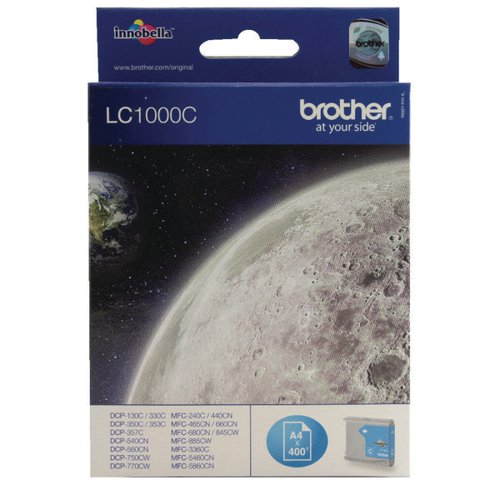 Brother LC1000C Cyan Inkjet Cartridge LC-1000C