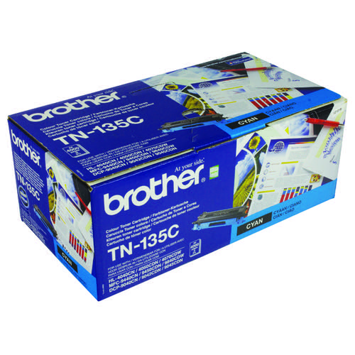 Brother TN135C Cyan Toner Cartridge High Capacity TN-135C