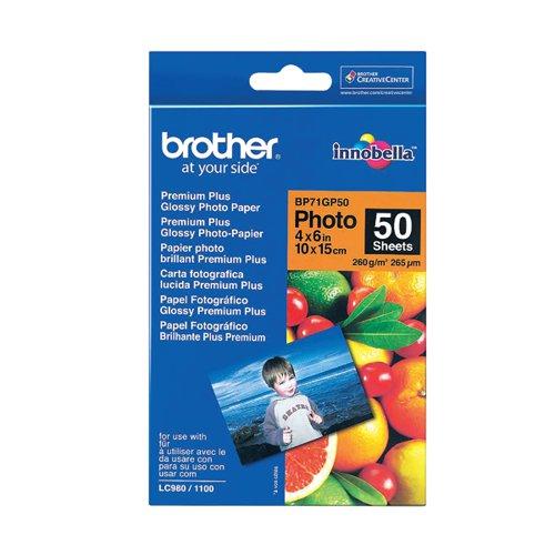 Brother BP71 Gloss Photo Paper 6x4 BP71GP50