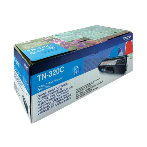 Brother TN320C Cyan Laser Toner Cartridge (1500 page capacity) TN-320C