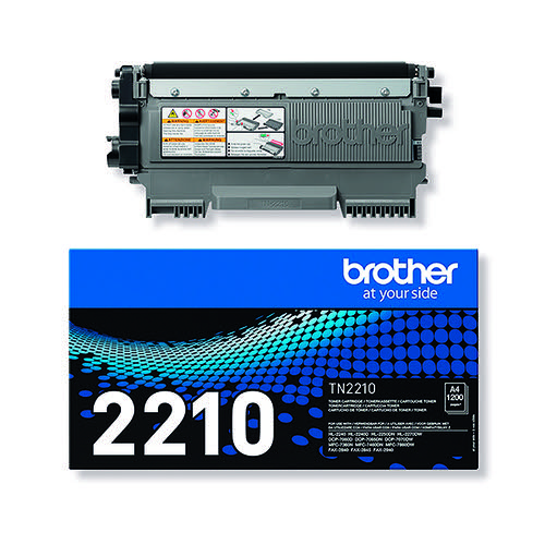 Brother TN-2210 FAX-2940 Laser Black Toner Cartridge TN2210
