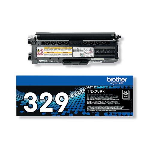 Brother TN329BKBlack Super Toner Cartridge High Capacity TN-329BK