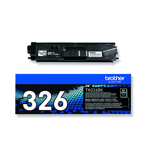 Brother TN326BK Black Toner Cartridge High Capacity TN-326BK