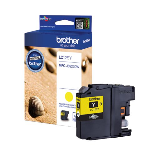 Brother Ink Cartridge Yellow LC12EY