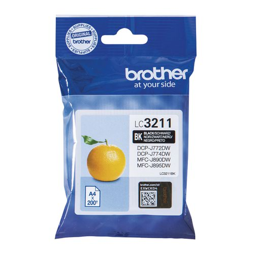 Brother LC-3211 Black Ink Cartridge LC3211BK