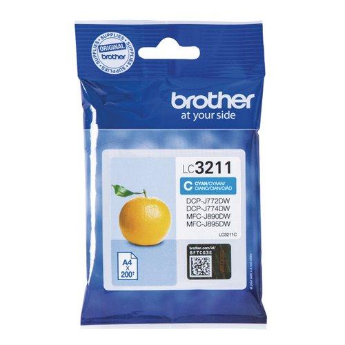 Brother LC-3211 Cyan Ink Cartridge LC3211C