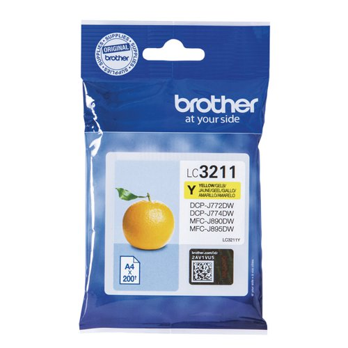 Brother LC-3211 Yellow Ink Cartridge LC3211Y