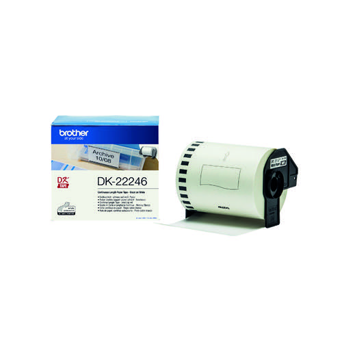 Brother Continuous Paper Roll Black on White 103mm DK-22246