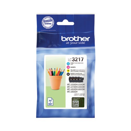 Brother LC3217 Value Pack CMYK Ink Cartridge LC3217VAL