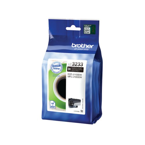 Brother Black High Yield Ink Cartridge LC3233BK by Brother, BA78718
