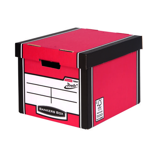Fellowes Bankers Box Premium Presto Red (Pack of 10) 7260701 BB00728