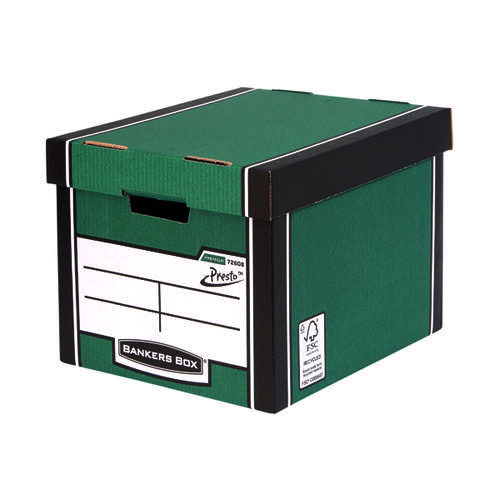 Fellowes Bankers Box Premium Presto Green/White (Pack of 10) 7260801