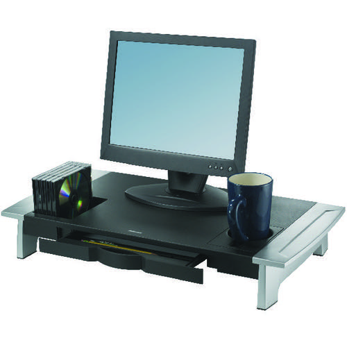 Fellowes Office Suites Premium Monitor Riser Black/Silver 8031001