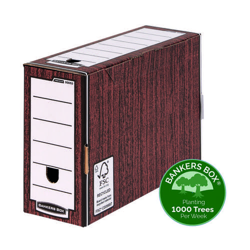 Bankers Box Premium 127mm Transfer File Woodgrain (Pack of 5) 5305