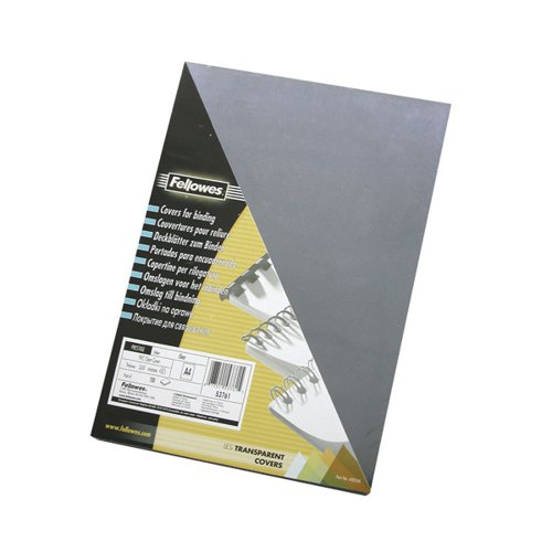 Fellowes Transpsarent Plastic Covers 240 Micron (Pack of 100) 53762