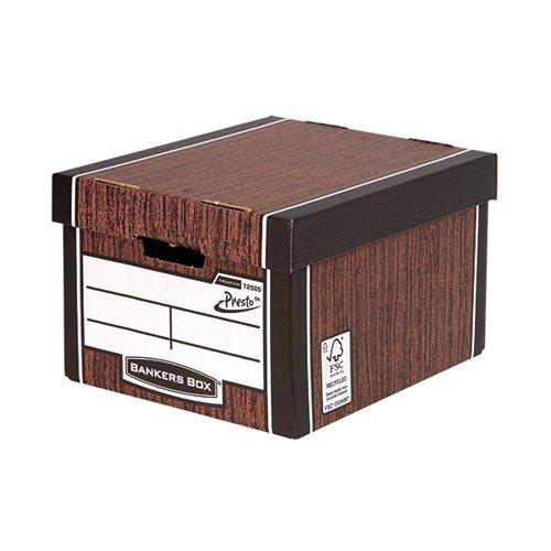 Fellowes Bankers Box Premium Presto Woodgrain (Pack of 10) 7250501
